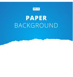 white ripped paper cut on blue background vector image