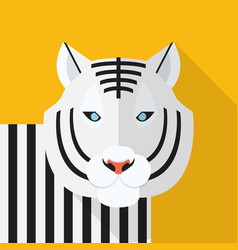 white tiger icon set of great flat icons design vector image