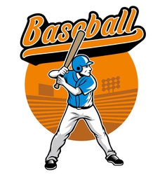 baseball player stand and ready to hit vector image