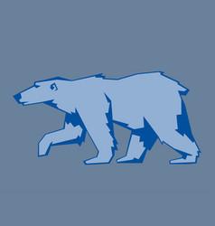 bear polar animal mammal teddy grizzly vector image