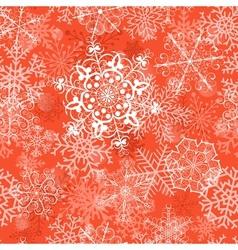 Christmas seamless pattern on orange vector image