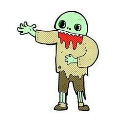 comic cartoon spooky zombie vector image vector image