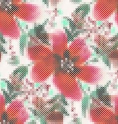 Cross stitch vector image
