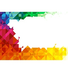 Geometric Colorful Background vector image vector image