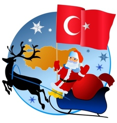 Merry Christmas Turkey vector image vector image