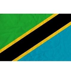Tanzania paper flag vector image