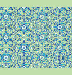 Abstract seamless pattern mosaic ornament floral vector