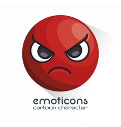 Emoticon with angry face icon vector