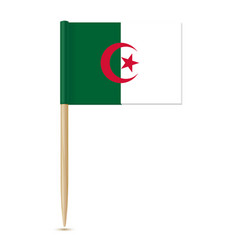 flag of algeria toothpick on white background vector image vector image