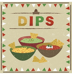 Mexican dips vector