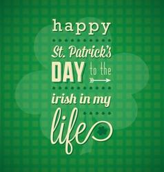 St Patricks Day Card and Wallpaper vector image vector image