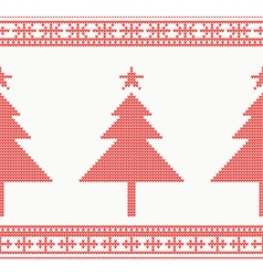 Christmas Knitted Seamless Background vector image vector image