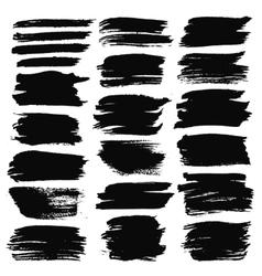Grunge Brush Strokes Backgrounds Set vector image vector image