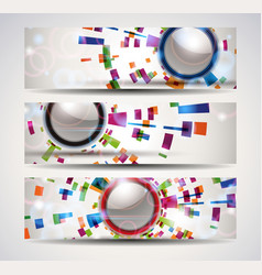 set of abstract header-banner vector image