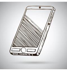 Smartphone sketch vector image vector image