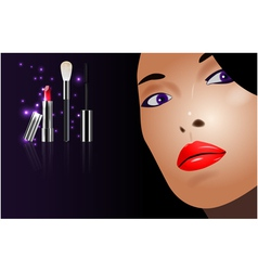 beauty concept vector image vector image