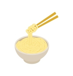 Chinese noodles icon isometric 3d style vector image