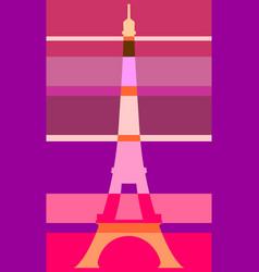 eiffel tower in paris gradient stripes vector image vector image