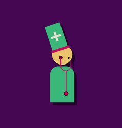flat icon design collection doctor with vector image vector image