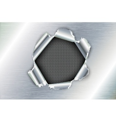 ragged hole in the metal vector image