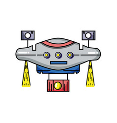 technology drone with propeller and digital camera vector image