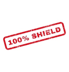 100 Percent Shield Text Rubber Stamp vector