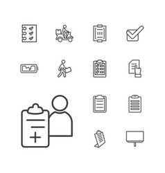 13 check icons vector