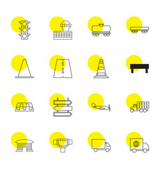 16 traffic icons vector