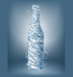 3d realistic of pure water vector image
