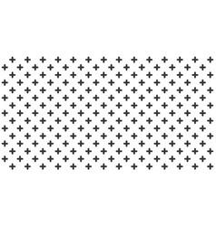 Abstract black crosses minimal geometric pattern vector