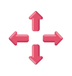 Arrows in four directions on white background vector