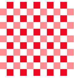 background with red and white squares pattern vector image