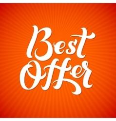 Best Offer Logo Best Offer print on T-shirt vector