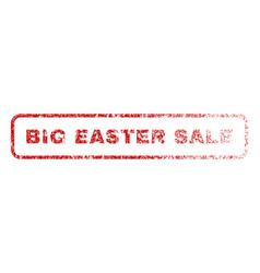 big easter sale rubber stamp vector image