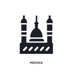 Black medina isolated icon simple element from vector