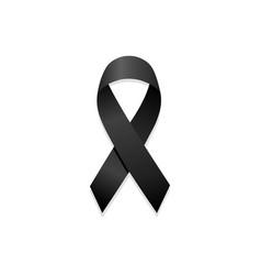 Black ribbon remembrance sign vector