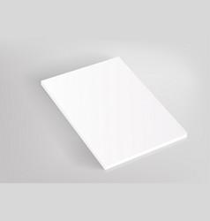 blank hardcover white book mockup vector image