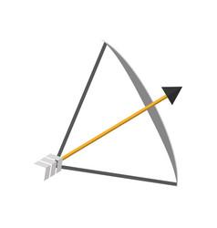 Bow arrow equipment vector