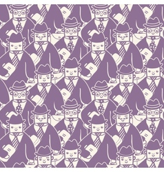 Businessmen in a group seamless pattern background vector image