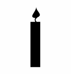 candle dark silhouette vector image