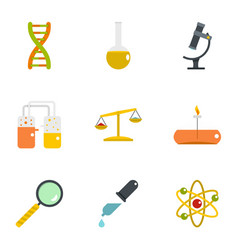Chemistry icon set flat style vector