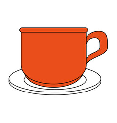 coffe cup cartoon vector image