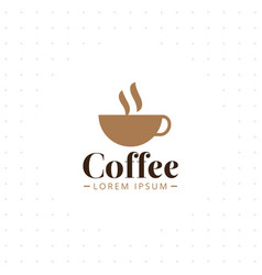 coffee cup logo design template vector image