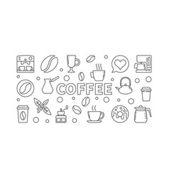 Coffee horizontal vector