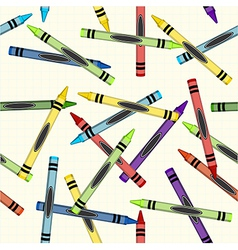 Color crayons pattern background vector image