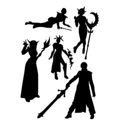 costume silhouette vector image