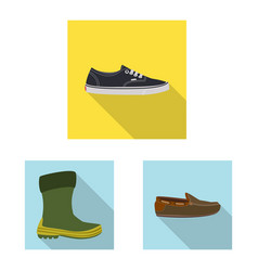 design of shoe and footwear sign set of vector image