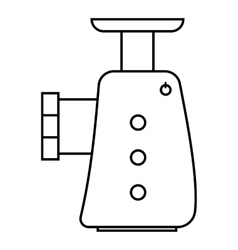 Electric grinder icon outline style vector