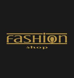 Fashion shop logo design vector