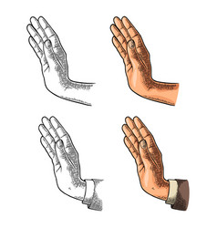 Female hand showing stop gesture color vector